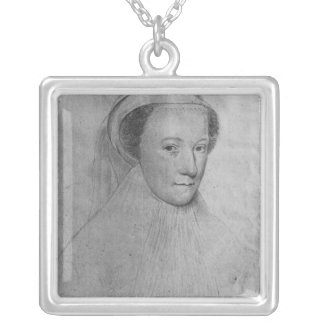 Mary, Queen of Scots  in white mourning, 1560 Silver Plated Necklace