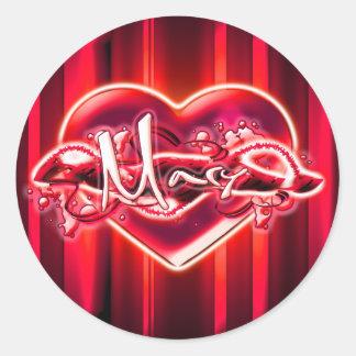 Mary Round Sticker