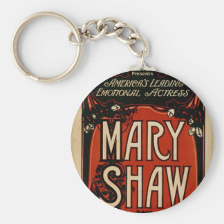 Mary Shaw, 'Ernest Shipman' Vintage Theater Key Chains