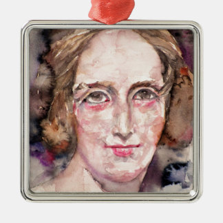 mary shelley - watercolor portrait christmas ornament