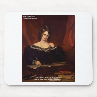 Mary Shelly Love Never Seen Gifts Cards Mousepad