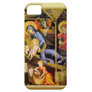Mary showing the baby Jesus to visitors iPhone 5 Covers