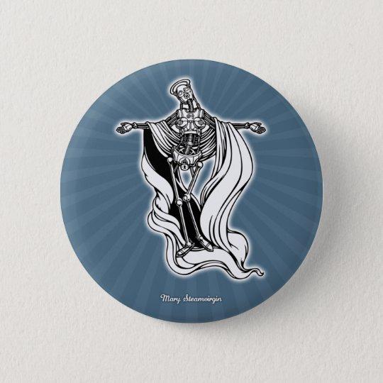 Mary Steam Virgin 6 Cm Round Badge