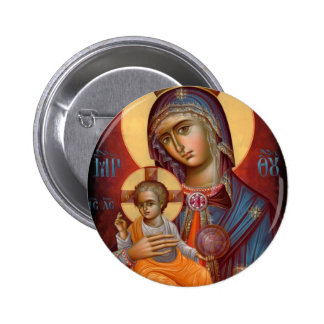 Mary - THEOTOKOS 6 Cm Round Badge