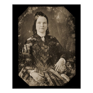 Mary Todd Lincoln Daguerreotype 1846 Poster