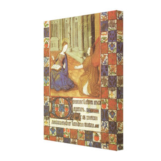 Mary visits her cousin Elizabeth, medieval Gallery Wrapped Canvas