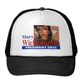 Mary Wickentower for  President 2012 Mesh Hat