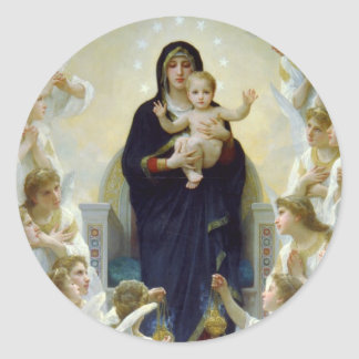Mary with Angels - Regina Angelorum Classic Round Sticker