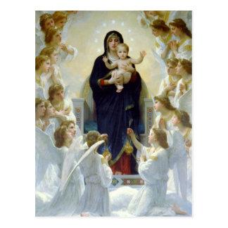 Mary with Angels - Regina Angelorum Postcard
