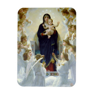 Mary with Angels - Regina Angelorum Rectangular Magnets