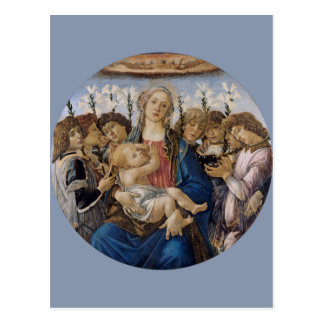 Mary with Child and Singing Angels by Botticelli Postcard