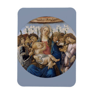 Mary with Child and Singing Angels by Botticelli Vinyl Magnets