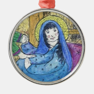 Mary with child CHRISTmas ornament