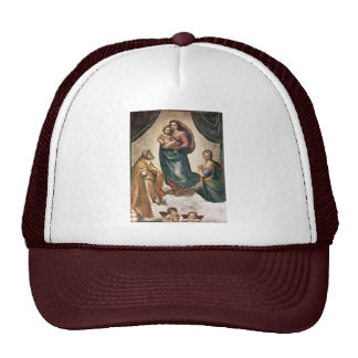 Mary With Christ Child St. Pope Sixtus Ii And St. Trucker Hats