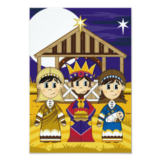 Mary with Joseph and King RSVP Card 9 Cm X 13 Cm Invitation Card