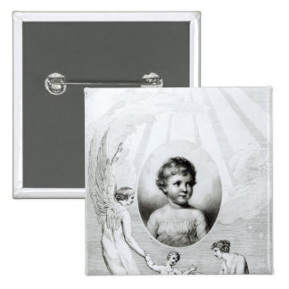 Mary Wollstonecraft Shelley  as a child 15 Cm Square Badge
