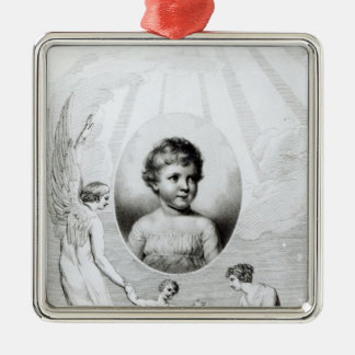 Mary Wollstonecraft Shelley  as a child Silver-Colored Square Decoration