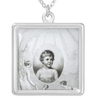 Mary Wollstonecraft Shelley  as a child Silver Plated Necklace