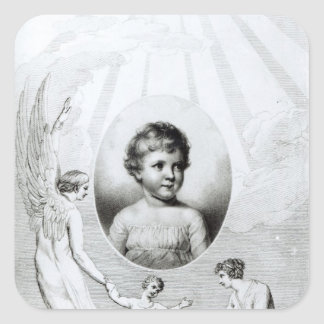 Mary Wollstonecraft Shelley  as a child Square Sticker