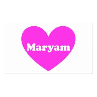 Maryam Business Card
