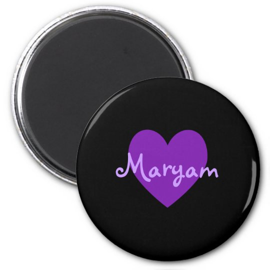 Maryam in Purple 6 Cm Round Magnet