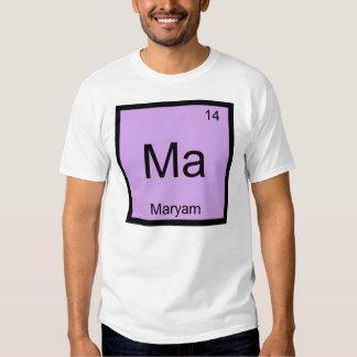 Maryam Name Chemistry Element Periodic Table Tshirt