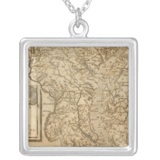 Maryland 3 silver plated necklace