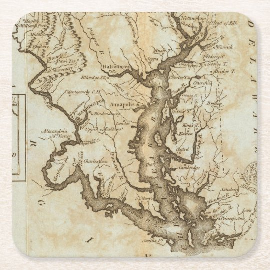 Maryland 4 square paper coaster