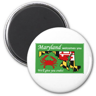Maryland 6 Cm Round Magnet
