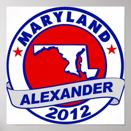 Maryland Alexander Poster