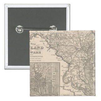 Maryland and Delaware 15 Cm Square Badge