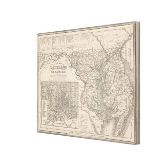 Maryland and Delaware 2 Canvas Print