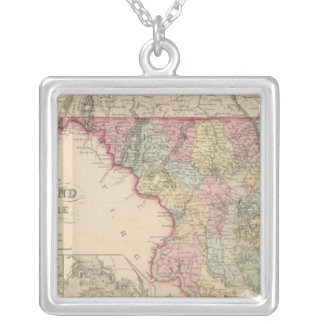 Maryland and Delaware 2 Silver Plated Necklace