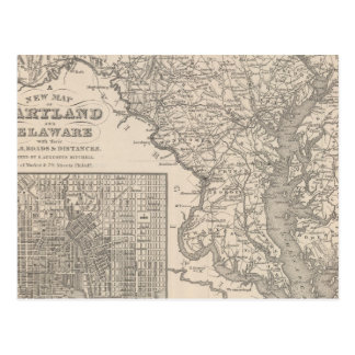 Maryland and Delaware Postcard