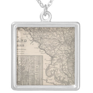 Maryland and Delaware Silver Plated Necklace