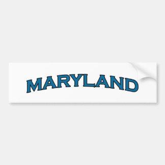 Maryland Arched Text Logo Bumper Sticker