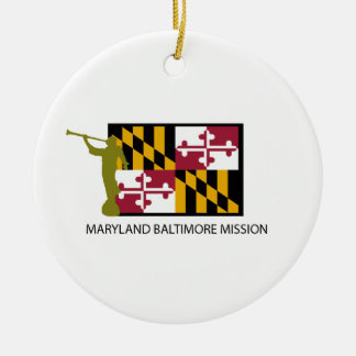 MARYLAND BALTIMORE MISSION LDS CTR ROUND CERAMIC DECORATION