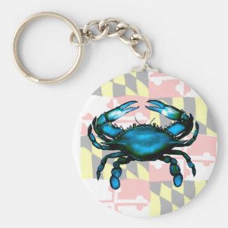 Maryland Basic Round Button Key Ring