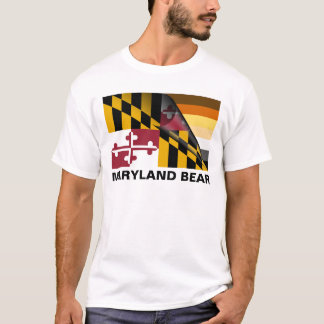 Maryland Bear Pride Flag (Paw Back) T-Shirt