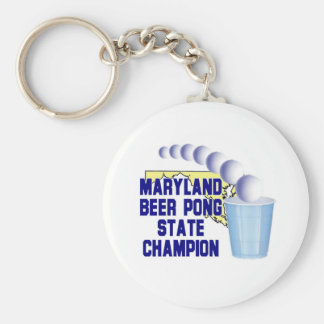 Maryland Beer Pong Champion Keychains