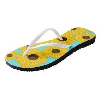 Maryland Black-Eyed Susans Flip Flops