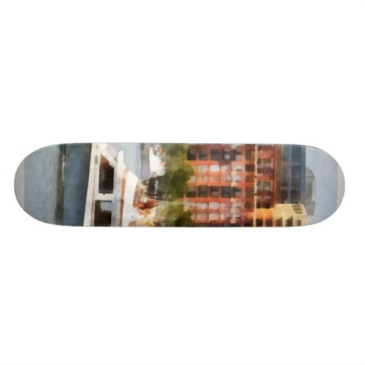 Maryland - Cabin Cruiser by Baltimore Skyline Skateboard Decks