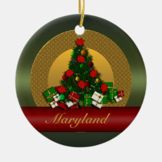 Maryland Christmas Tree Ornament