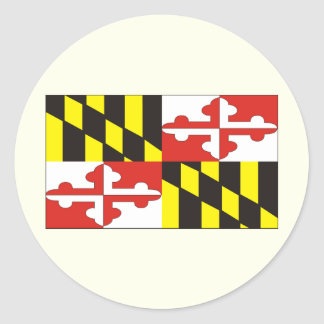 MARYLAND CLASSIC ROUND STICKER