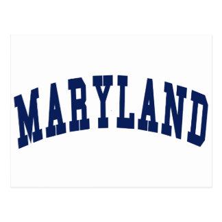 Maryland College Postcard