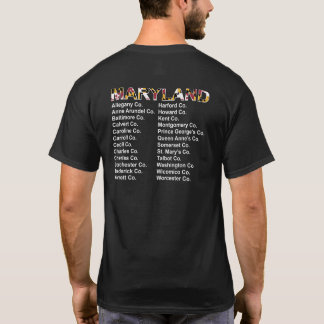 Maryland Counties Concert Style shirt