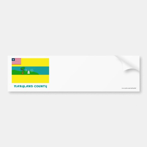 Maryland County Flag with Name Bumper Stickers