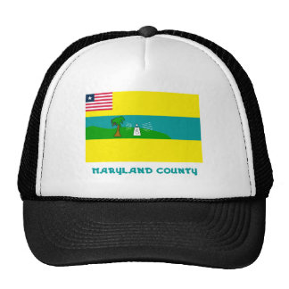Maryland County Flag with Name Mesh Hat