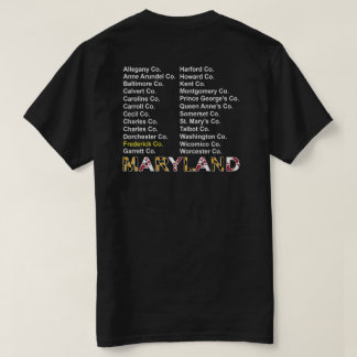 Maryland county t-shirt - Frederick co.
