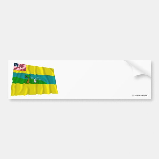 Maryland County Waving Flag Bumper Stickers